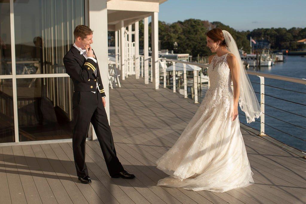 Waterfront Weddings Virginia Beach Military Wedding