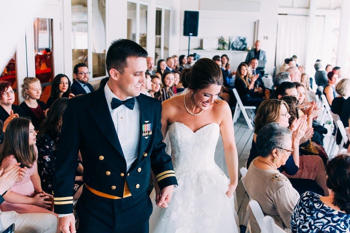 Waterfront Military Wedding Virginia