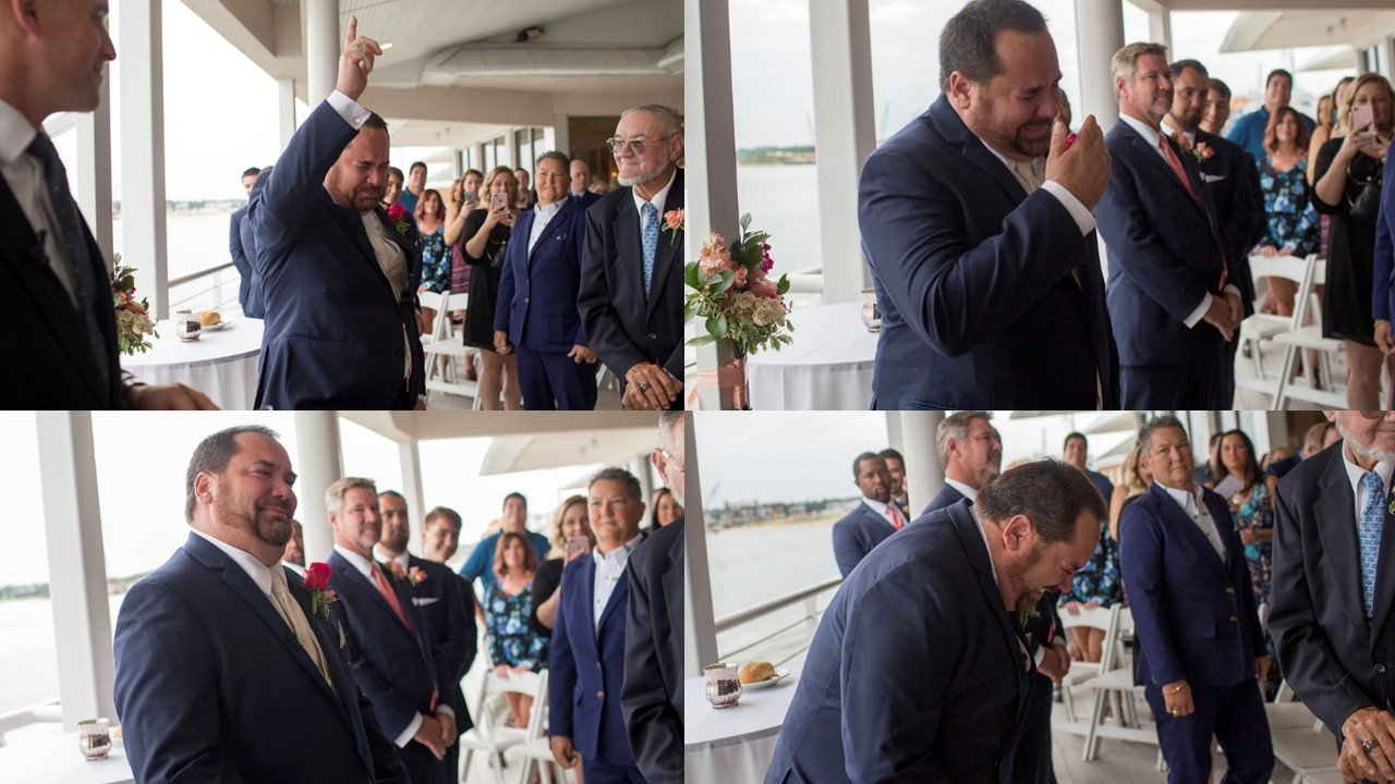 Best-First-Look-Wedding-Day-Virginia-Beach-Waterfront-Ceremony-Dustin-Lewis-Photography