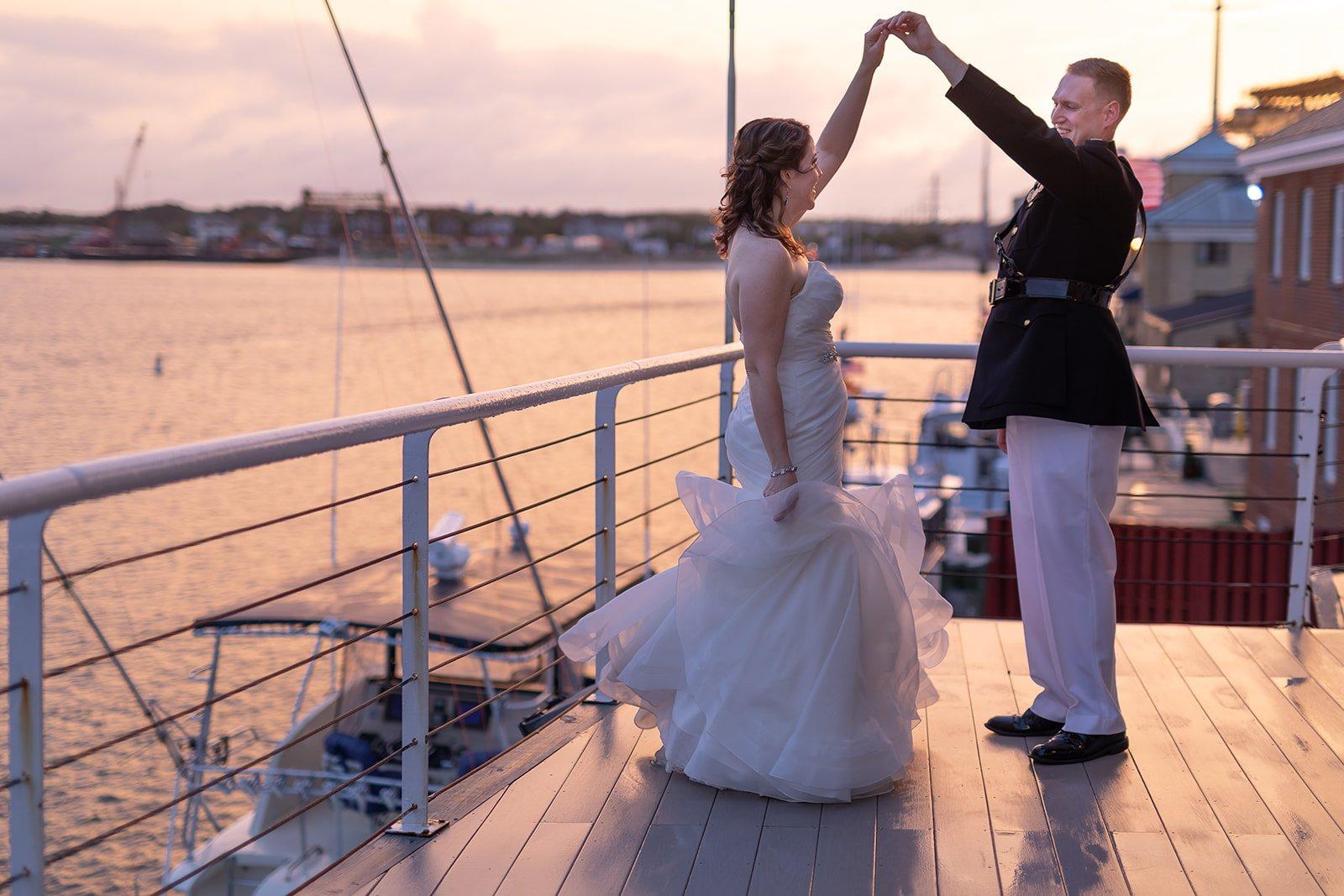 Military Waterfront Wedding Virginia Beach Lesner Inn (6)